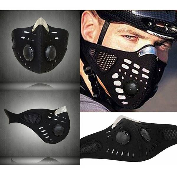 masque cycliste anti pollution